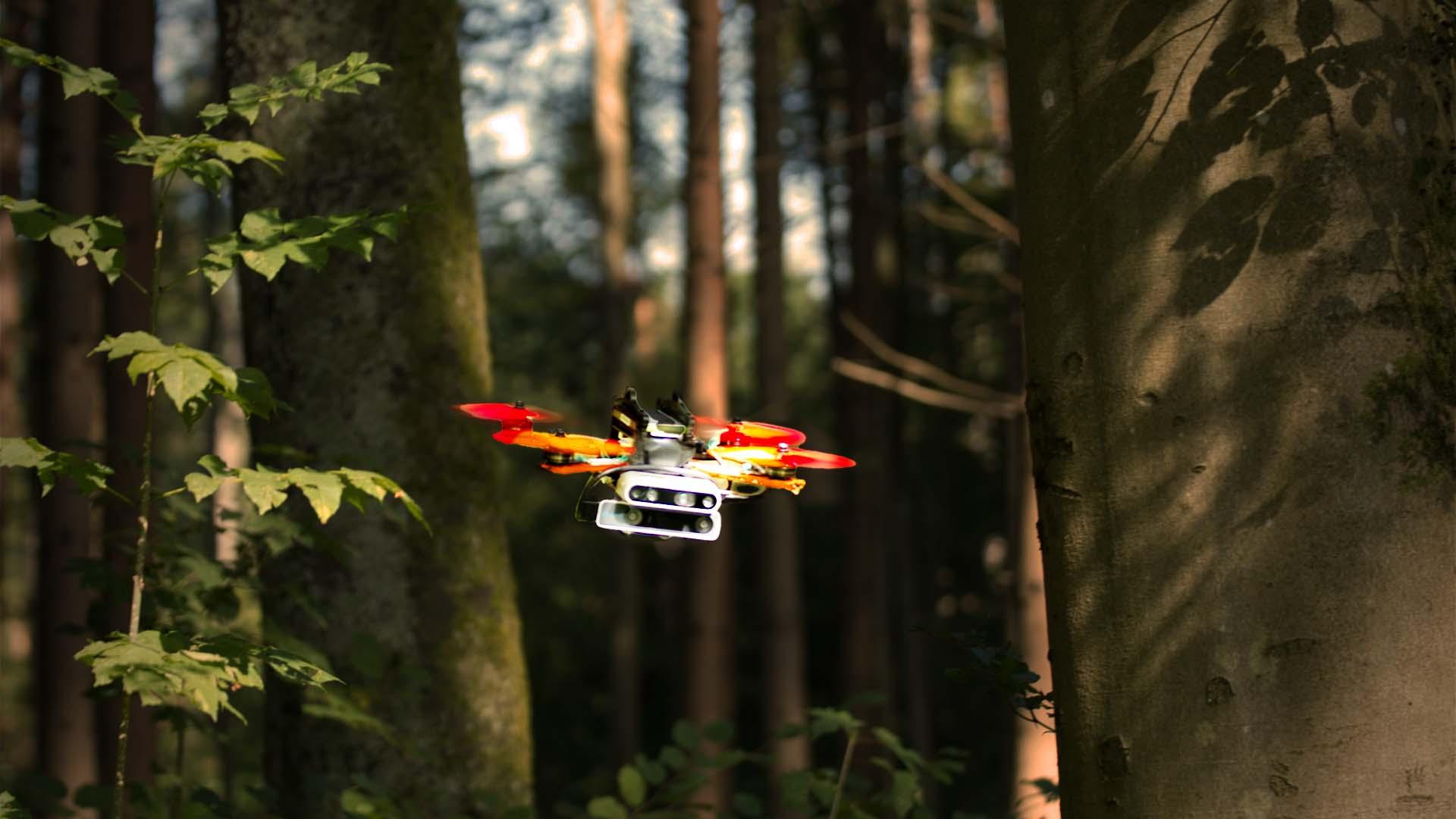 Autonome Drohnen in unbekanntem Terrain.